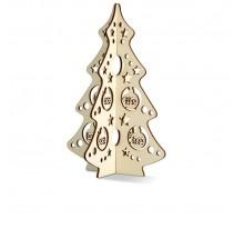 Drewniane drzewko świąteczne.