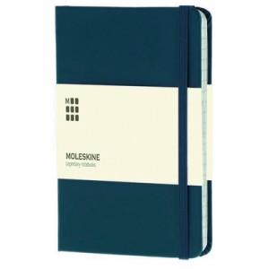 Kieszonkowy notatnik Moleskine, twarda okładka.