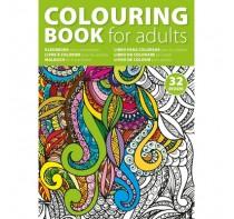 Kolorowanka dla dorosłych A4, 64 rysunki na 32 stronach.