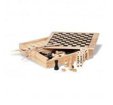 4 gry w drewnianym opakowaniu