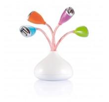 Hub USB z diodą LED.
