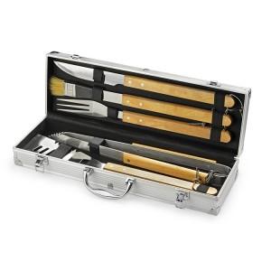 Zestaw do grilla TIMBER 5 elementów w walizce