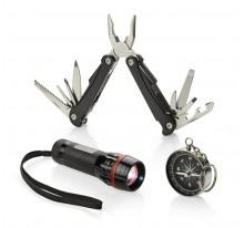 Zestaw TRAVELER - latarka, narzędzie wielofunkcyjne i kompas