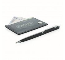 Etui na karty i długopis Swiss Peak, ochrona RFID