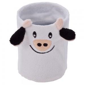 Fancy, pluszowa krowa, kubek / piórnik