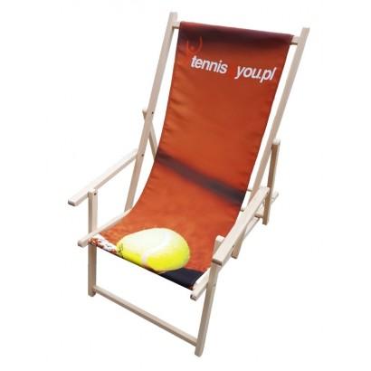 Leżak plażowy bez podłokietnika z nadrukiem