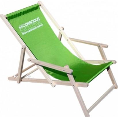 Leżak plażowy z podłokietnikiem z nadrukiem
