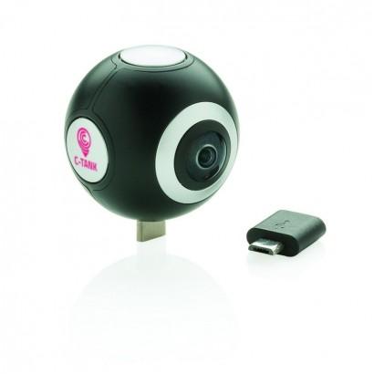 Kamera 360 z podwójnym obiektywem