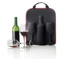 Nosidło do wina Swirl, 2 kieliszki do wina