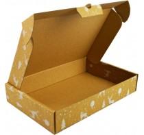 Pudełko uniwersalne z nadrukiem świątecznym.