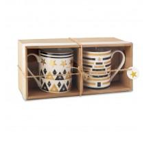 Zestaw dwóch ceramicznych kubków