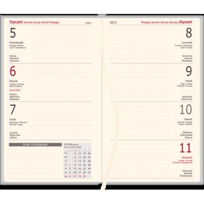 Kalendarz A6 tygodniowy VIVELLA