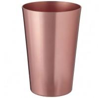 Metalowa szklanka.