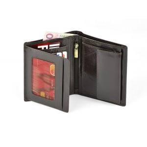 Portfel skórzany z folią Anti-RFID w pudełku