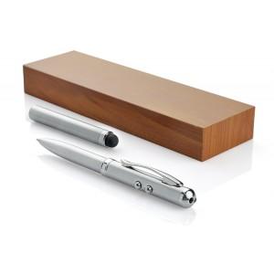 Wskaźnik laserowy z latarką i touch penem