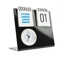 Zegar na biurko z kalendarzem