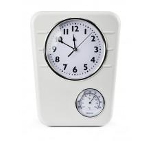 Zegar z termometrem biały