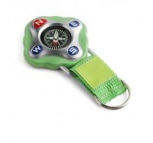 Brelok do kluczy, kompas na nylonowym pasku z miejscem pod nadruk z PU