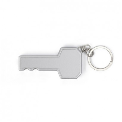 Brelok do kluczy z plastikową lampką w kształcie klucza