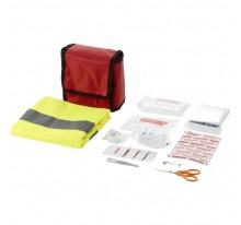 Zestaw pierwszej pomocy 18-elementowy z kamizelką odblaskową