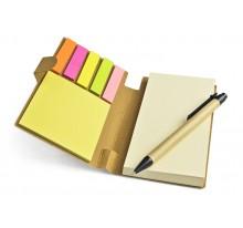 Notes ekologiczny z długopisem