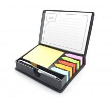Zestaw karteczek samoprzylepnych z długopisem