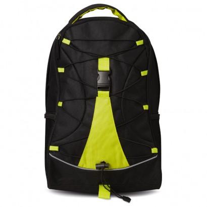 Czarny plecak z kolorową, kontrastową wkładką