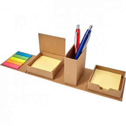 Zestaw do notatek, karteczki samoprzylepne, pojemnik na długopisy