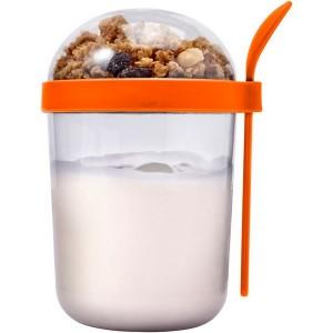 Pudełko śniadaniowe 530 ml, kubek, łyżeczka