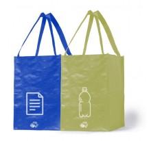 Zestaw 2 toreb do segregacji papieru i plastiku