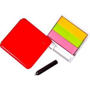 Zestaw do notatek, lusterko, karteczki samoprzylepne, długopis
