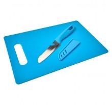 Zestaw kuchenny, deska do krojenia, nóż, otwieracz do butelek