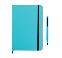 Zestaw zawierający notes A5 i dopasowany kolorystycznie długopis