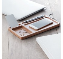 Drewniany organizer na biurko