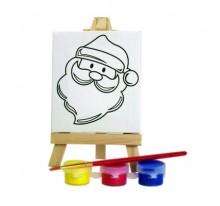 Zestaw do malowania, mini sztaluga Mikołaj
