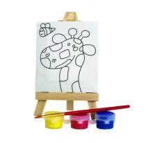 Zestaw do malowania, mini sztaluga żyrafa