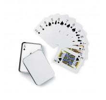 Karty do gry w  metalowym pudełku