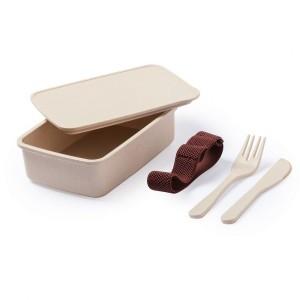 Ekologiczne pudełko śniadaniowe 700 ml, sztućce