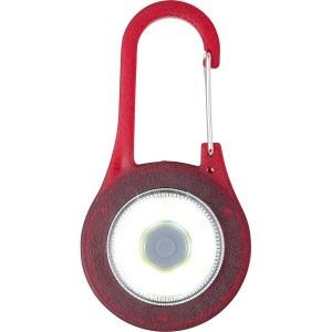 Karabińczyk z lampką COB LED