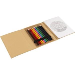 Zestaw do rysowania, kredki, kolorowanka