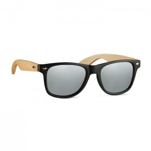 Okulary przeciwsłoneczne vintage z bambusa