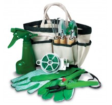 Komplet 7 narzędzi ogrodniczych w torbie.