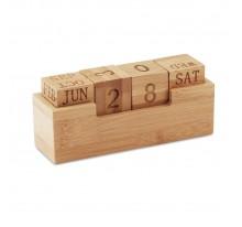 Bambusowy kalendarz biurkowy.
