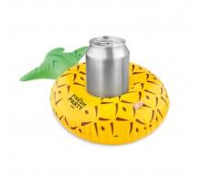 Nadmuchiwany uchwyt na puszki w kształcie ananasa.