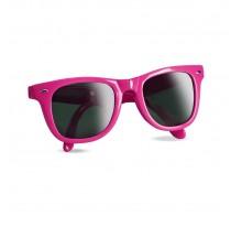 Składane okulary słoneczne z kolorową ramką.