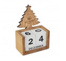 Drewniany manualny kalendarz biurkowy