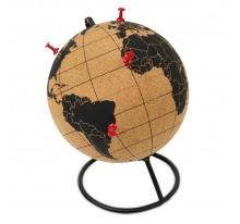 Globus korkowy z pinezkami