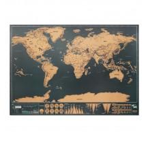 Mapa świata w formie zdrapki