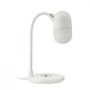Lampka z ładowarką i głośnikiem