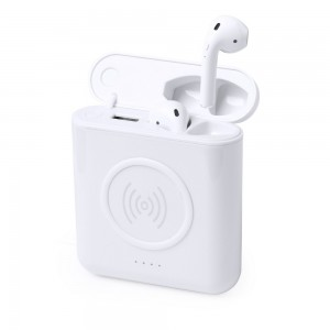 Bezprzewodowe słuchawki i bezprzewodowy powerbank